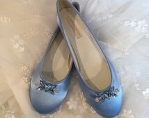Wedding Ballet Slipper - Shoes - Wedding Shoes -  Blue Wedding Shoe - Blue Flats - Blue Wedding Flats - Choose From Over 150 Colors - Ballet