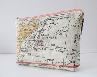 project bag -- vintage map