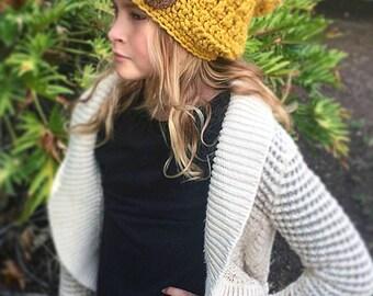 Chunky Slouchy Hat, Girls Winter Hat, Women's Winter Fashion, The Andorra Hat, Winter Wear, Crochet Slouchy Hat, Knitwear, Ava Girl Designs
