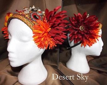 Tribal Fusion ATS Belly Dance Headpiece, Desert Sky