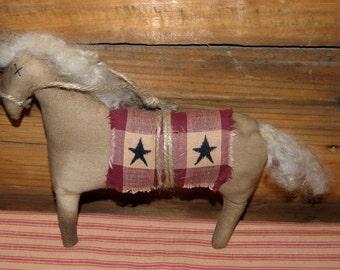 Primitive Folk Art Horse Doll Ornie