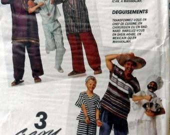 McCalls 5073 Men/Teen Costumes Chef, Surgeon, Mexican, Jailbird, Sheik, Maharajah Size Small (36) Uncut sewing pattern