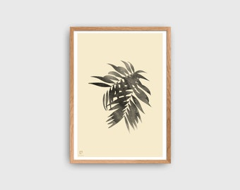 Tropical Poster | Botanical Print | Boho Poster | Pastel Wall Decor | Yellow Banana Poster | Scandinavian Style Home Decor | Wall Art