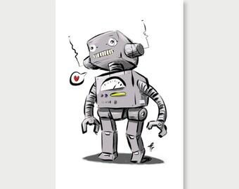 Sketch Bot - Original Print