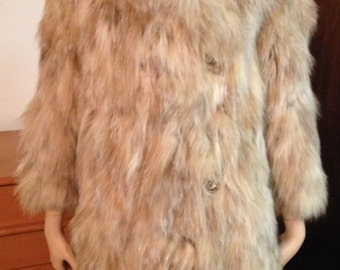 Damaged Fur Coat - Norwegian Fox Fur? Long Collar Satin Lined Deutsch Ader New York  Small