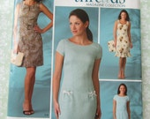 Misses Lined Dress with Neckline Variations and Bag Sizes 18 20 22 24 26 UNCUT Simplicity Pattern 4118