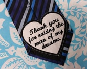 Wedding heart tie patch, Father of the Groom applique, Father of the Groom tie, Father of the Groom patch, iron on heart, Heart tie patch.