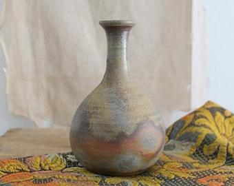 Vintage handmade earthenware studio pottery vase