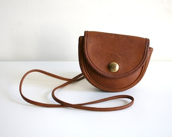 Cognac Small Coach Satchel