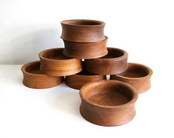 SALE Teak Snack Bowls