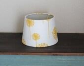 Yellow Dandelion Small Drum Lamp Shade