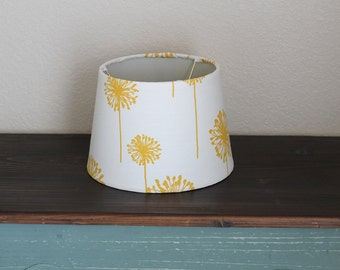 Yellow Dandelion Small Drum Lamp Shade