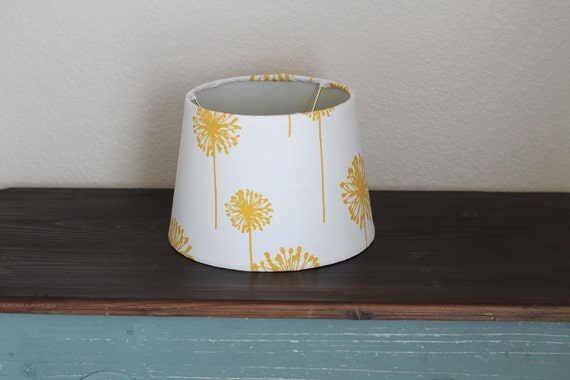 yellow dandelion small drum lamp shade. Black Bedroom Furniture Sets. Home Design Ideas
