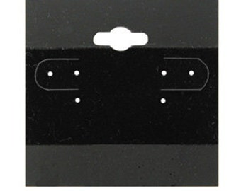 Black Earring Cards - 100 Pcs