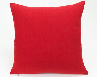 Solid Red Decorative Throw Pillow Cover - 16 inch