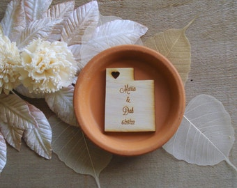 125 Utah State Wedding Favors Custom Engraved