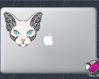 Sphynx Cat Decal Etsy - Cat custom vinyl decals for car windows