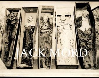 INSTANT DOWNLOAD // Creepy Mummies in Coffins