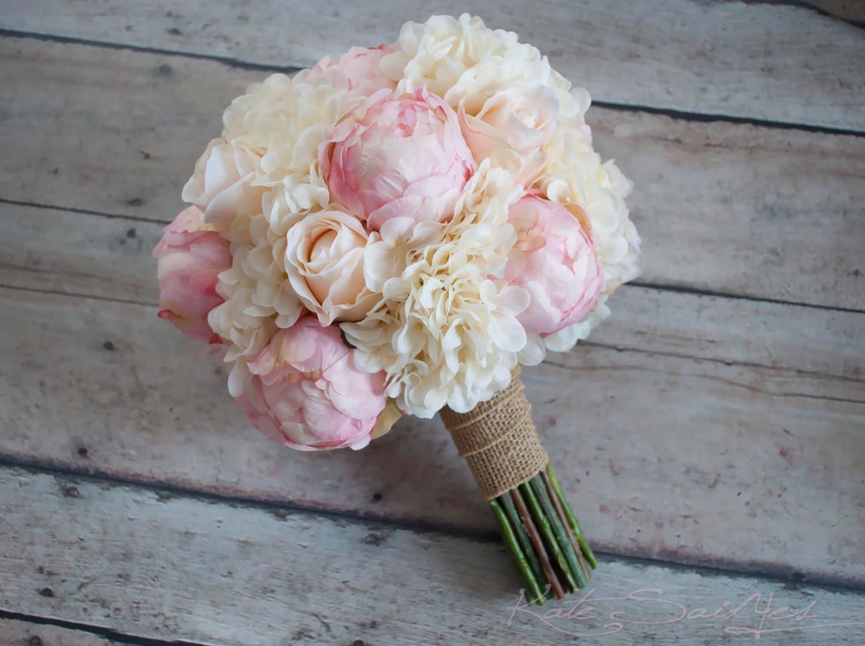 shabby chic hochzeitsstrau pfingstrose rose und hortensie. Black Bedroom Furniture Sets. Home Design Ideas