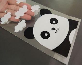 Panda Gift Bags 15cm x 10cm - Animal Cute Panda Resealable Self-adhesive Plastic Bag for Party Favor 48pcs