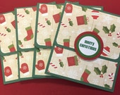 Christmas Gift Card Holders, Christmas Gift Card Envelopes, Coworker Gift Idea, Employee Gift Idea, Thank You Card, Set of 4 with envelopes