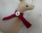 Felt Greyhound Miniature/ Christmas Ornament / Ready to Ship / Ginger