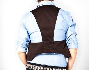 Black Vest Holster Bag / Shoulder Holster Bag / Cotton Daily Use Vest / Street Style Vest / Festival Vest