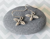 Bee Earrings, Insect Jewellery, Bumble Bee, Honey Bee, Gift for Her, Tiny Silver Earrings, Gift for a Bee lover, Hypoallergenic Earrings