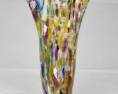 """Tall Fluted """"End of the Day"""" Hand Blown Art Glass Vase - by Eric W. Hansen"""