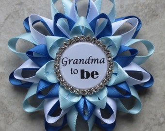 New Grandma Gift, New Mommy Gift, Personalized Baby Shower Corsage Pins, Baby Boy Shower Decorations, Aunt to Be, Nonna, Daddy, Mimi, Mom