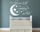 I love you to the moon and back - I love u to the Moon and Back - Nursery Wall Decals - We love you to the moon and back wall decal