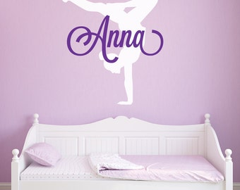 Gymnastics Wall Decals - Gymnastics Decal - Gymnastics Wall Decal - Gymnastics Silhouettes - Decal Gymnastics - Wall Decor - Wall Decals