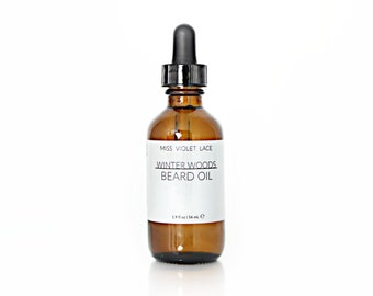 Winter Woods Beard Oil   Conditioning Oil for Men   100% natural and vegan