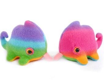 Lil Rainbow Chameleon Plush