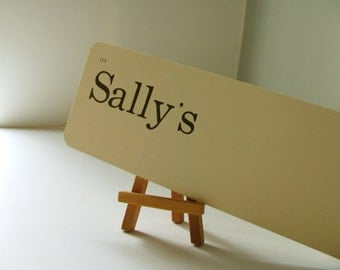 Vintage Flash Card Sally's Dick Jane Flashcard Girl Name Gift Card Greeting Friend Friendship Mom Sister Aunt Child Room Word School Card