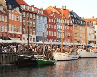 Nyhavn Copenhagen Photography - Canal Print - Denmark Photograph Colorful Architecture Photo Danish Wall Art Scandanavian Home Decor