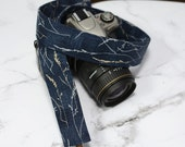 dSLR Camera Strap - Navy Blue - Hearty Good Wishes - Blue Camera Strap - Nautical Camera Strap - Photographer Gift - Gifts under 30