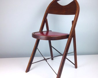 General Sales Co, High Point NC, Vintage Wood Folding Chairs, Wooden Chairs, Mid Century Chair, Antique Wood Chair