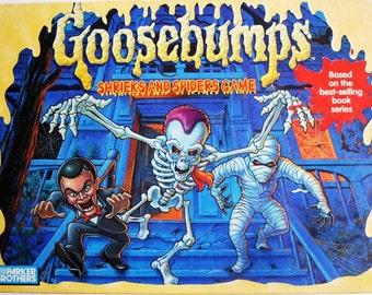 Vintage Goosebumps Shrieks and Spiders Board Game Complete 1995