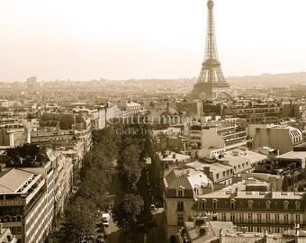 Eiffel Tower Photograph-Paris-Antique Color-Original Print