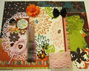 Bo Bunny Olivia Inspiration Kit, Embellishment Kit for Scrapbooking Layouts Cards Mini Albums Tags and Paper crafts 1