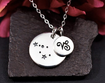 Capricorn Constellation Necklace - Capricorn Necklace in Sterling Silver - Capricorn Jewelry