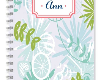 Notebook Tropical blue
