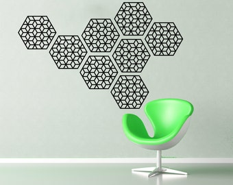 Geometric pattern wall decal- set of 8 wall decals