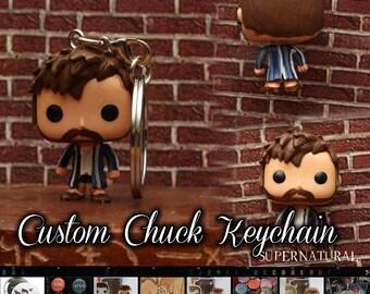 Supernatural Chuck - Custom Funko pop toy keychain