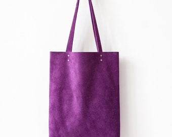 Rainbow SALE Purple Suede Tote bag No.Tl- 6102