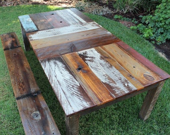 CARRILLION ~ Handmade Reclaimed Wood Dining Table