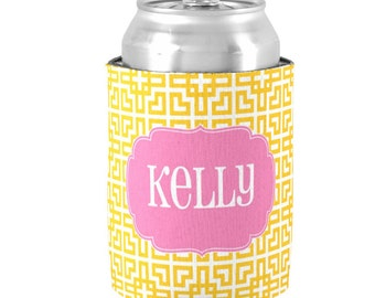Personalized Can Coolers with Monogram - Customize Colors - Bachelorette Party Favors / Bridesmaid Can Coolers, Bride Tribe, Girls night