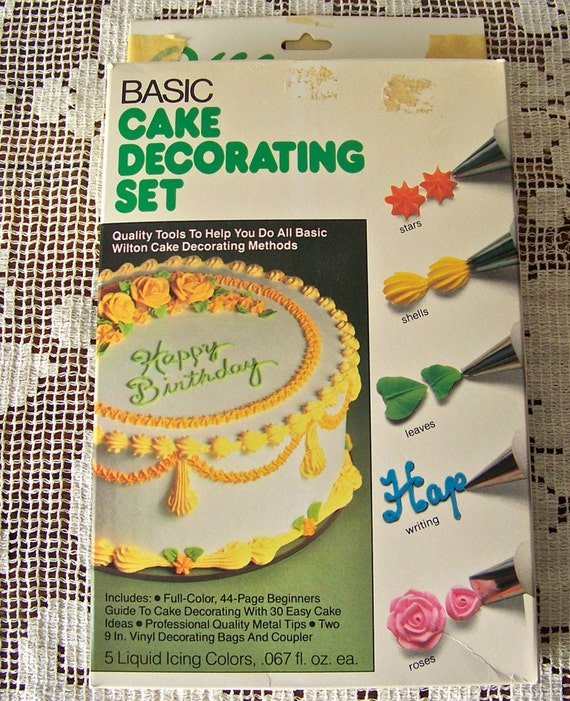 Cake Decorating Gun By Wilton : Vintage Cake Decorating Set Wilton 1981 NIB Wilton Cake Set