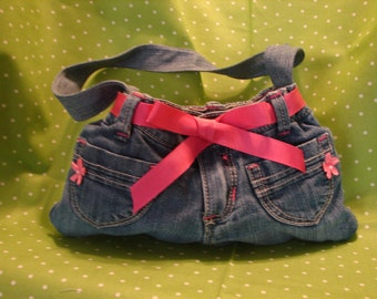 Old Navy upcycled denim hand bag